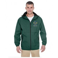 UltraClub Adult Microfiber Full-Zip Hooded Jacket